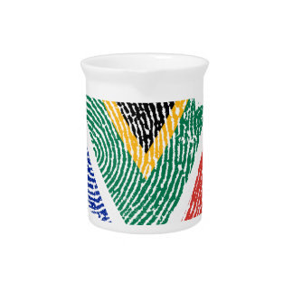 South African touch fingerprint flag Pitcher