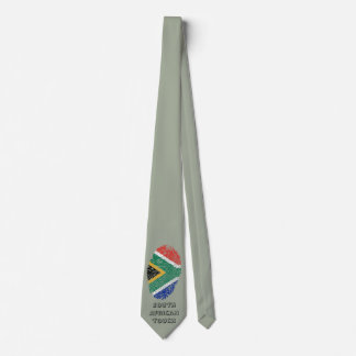 South african touch fingerprint flag tie