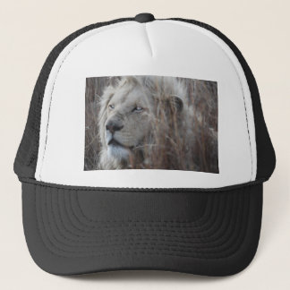 South African White Lion close up Trucker Hat