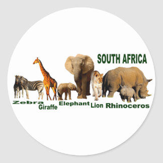 South African Wildlife Classic Round Sticker