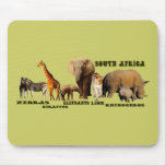 South African Wildlife Collage Mousepads