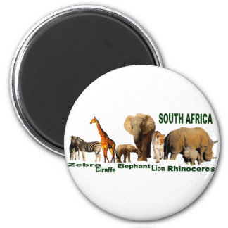 South African Wildlife Magnet
