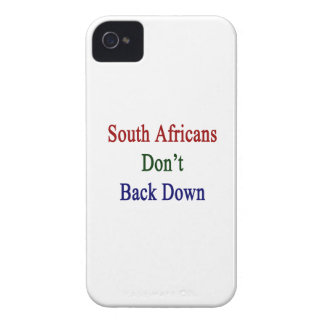 South Africans Don't Back Down iPhone 4 Covers