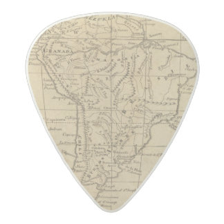 South America 12 Acetal Guitar Pick