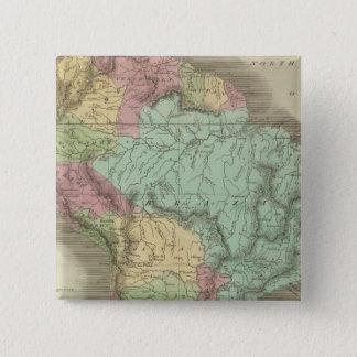 South America 13 15 Cm Square Badge