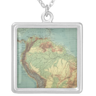 South America 14 Silver Plated Necklace