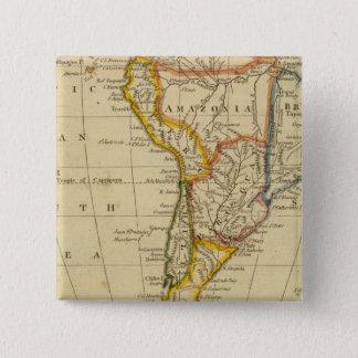 South America 15 Cm Square Badge