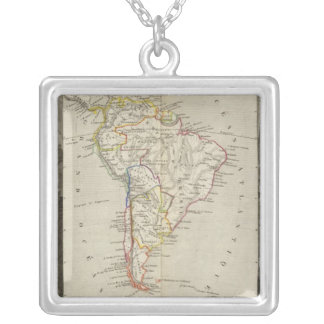 South America 16 Silver Plated Necklace