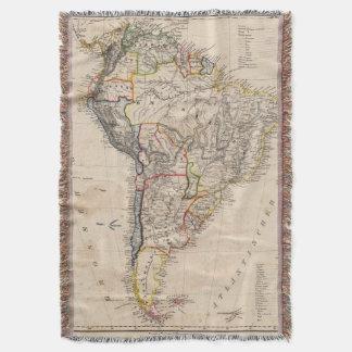 South America 25 Throw Blanket
