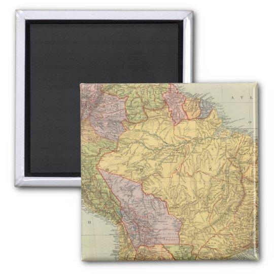 South America 29 Square Magnet