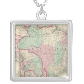 South America 2 Silver Plated Necklace