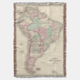 South America 2 Throw Blanket