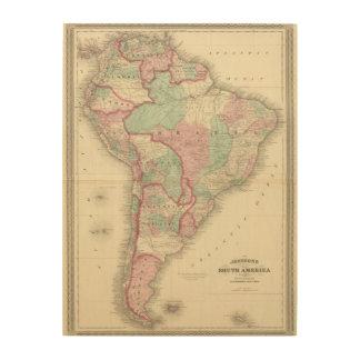 South America 2 Wood Wall Decor