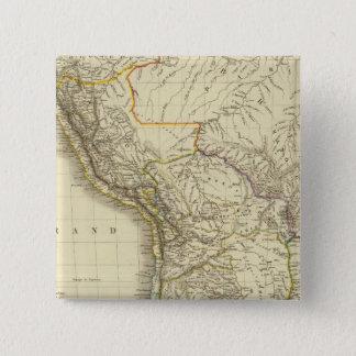 South America 34 15 Cm Square Badge