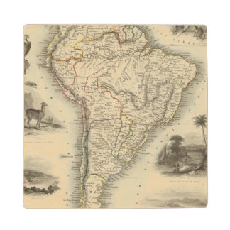 South America 35 Wood Coaster