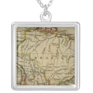 South America 3 Silver Plated Necklace