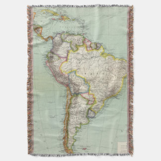 South America 42 Throw Blanket