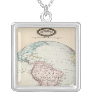 South America 6 Silver Plated Necklace