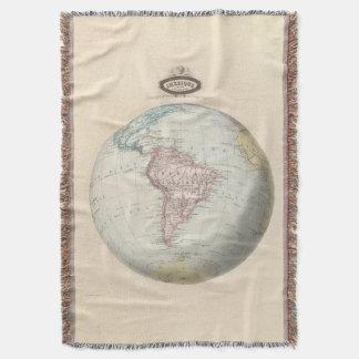 South America 6 Throw Blanket
