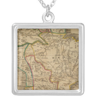 South America 7 Silver Plated Necklace