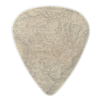 South America 8 Acetal Guitar Pick