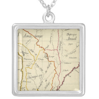 South America 9 Silver Plated Necklace