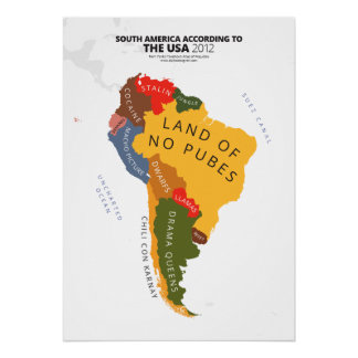 South America According to the USA Poster