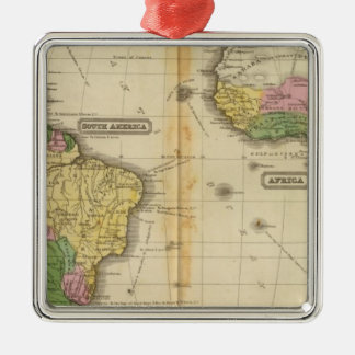 South America, Africa Christmas Ornament