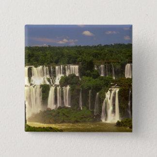 South America, Argentina, Brazil, Igwacu Falls, 15 Cm Square Badge