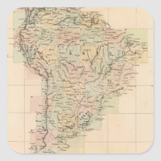 South America Assembly Map Square Sticker