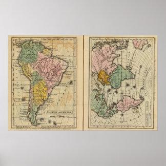 South America, Atlantic Ocean Poster