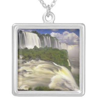 South America, Brazil, Igwacu Falls. Glorious Silver Plated Necklace
