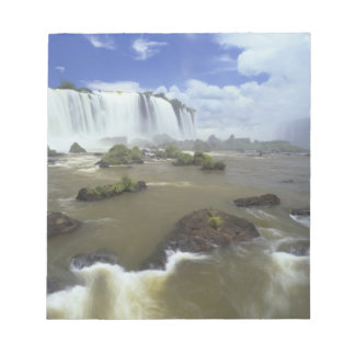 South America, Brazil, Igwacu Falls. Towering Notepad
