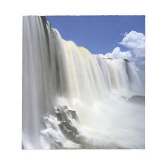 South America, Brazil, Igwacu, Igwacu Falls. Notepad