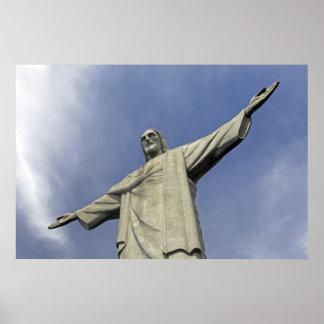 South America, Brazil, Rio de Janeiro. Christ 2 Poster
