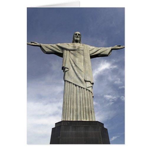 South America, Brazil, Rio de Janeiro. Christ Greeting Card