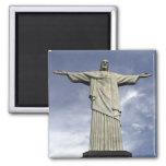 South America, Brazil, Rio de Janeiro. Christ Square Magnet