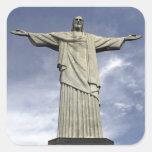 South America, Brazil, Rio de Janeiro. Christ Square Sticker