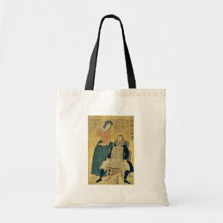 South America by Utagawa,Yoshitora Canvas Bag
