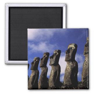 South America, Chile, Easter Island, Ahu Akiri. Magnet