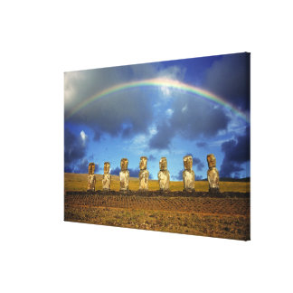 South America, Chile, Easter Island. The full Canvas Print