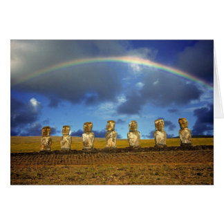 South America, Chile, Easter Island. The full Greeting Card