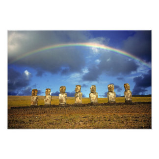 South America, Chile, Easter Island. The full Photo Print