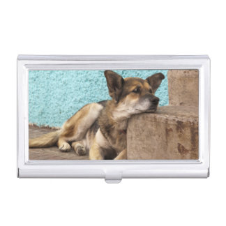 South America, Chile, Valparaiso. German Business Card Holder