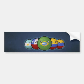 South America Countryballs Bumper Sticker