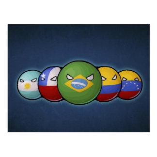 South America Countryballs Postcard