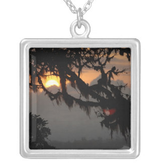 South America, Ecuador, cloud forest scene in Silver Plated Necklace