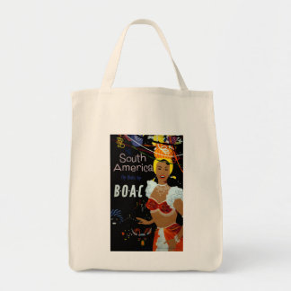 South America ~ Fly There Grocery Tote Bag