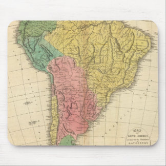 South America History Map Mouse Mat