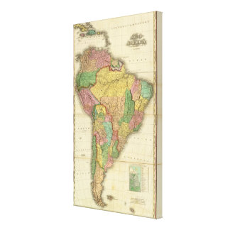 South America in 1823 Canvas Print